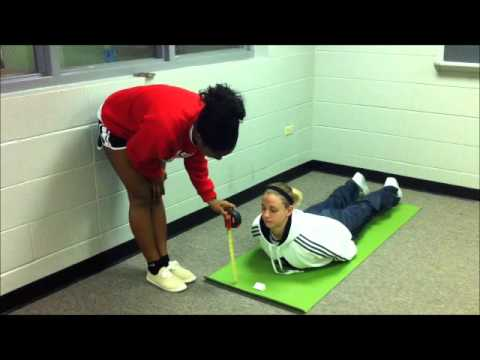 Fitnessgram Trunk Lift UL KNES 205 sp'12 - YouTube