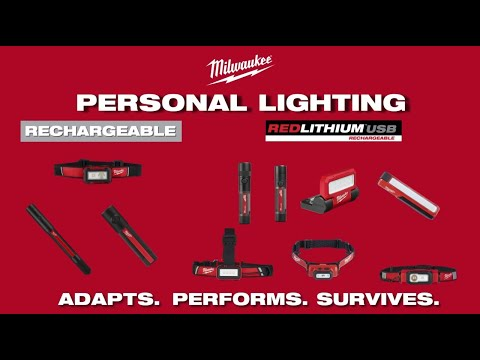 Milwaukee® REDLITHIUM™ USB and Rechargeable Personal Lights