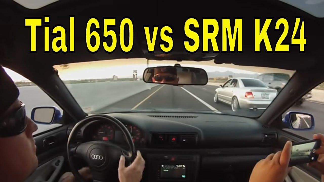 2000 S4 highway pulls SRM K24's VS 2001 S4 Tial650R