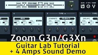 Zoom Guitar Lab Software + Zoom G3n Sound Test 4 Amps