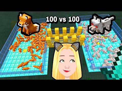 100 De VULPI Vs 100 De LUPI In Minecraft | Cine Castiga ?