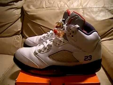 45185ad147c Nike Air Jordan 5 V Retro Olympic Independence Day 2011 size 10 video