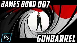 Photoshop: How to Create the Iconic, JAMES BOND 007 GUNBARREL.