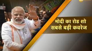 PM Modi in Varanasi, Begins mega Roadshow