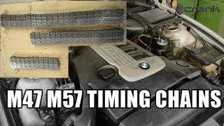 BMW M47 M57 Timing Chain Replacement on E39 E60 E90 E70 E54 E65 E46 E81 Part 1