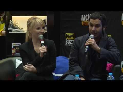 EXCLUSIVE Big Bang Theory's Melissa Rauch & Kunal Nayyar @ MCM London