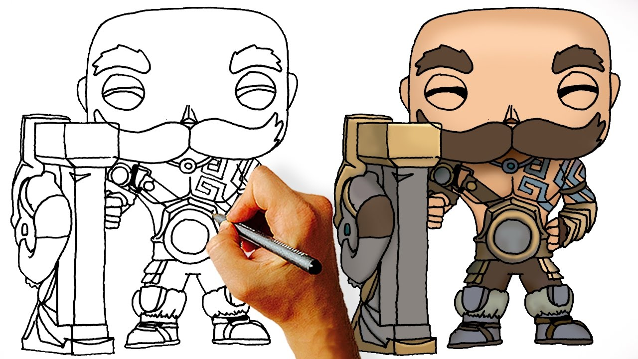 How To Draw Braum League Of Legends Champions