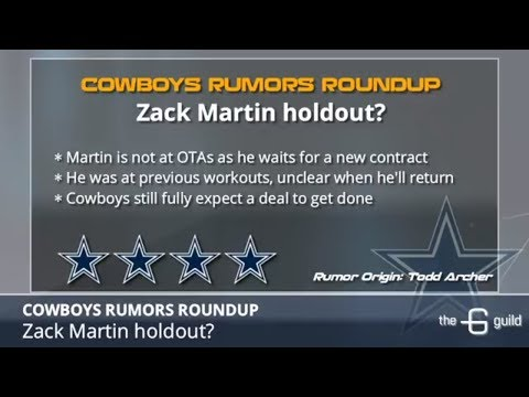 Cowboys Rumors: Zack Martin Holdout, David Irving Out Of Shape & Rico Gathers' Future