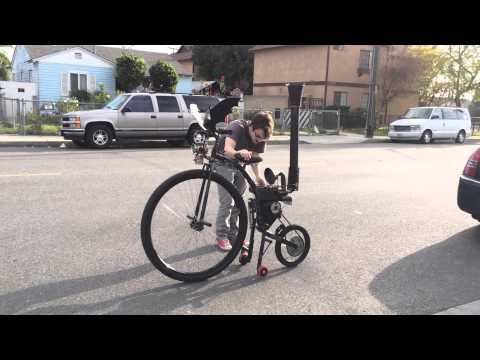 Steampunk Motorized Penny Farthing Bicycle