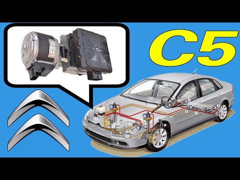 How to change hydraulic suspension pump on a Citroen C5