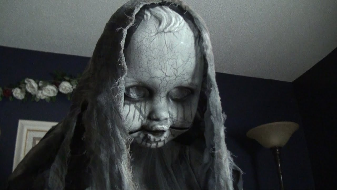Creepy Rising Animatronic Doll - Spirit Halloween - YouTube