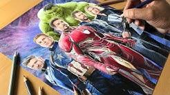 The Avengers Artwork - Timelapse   Artology