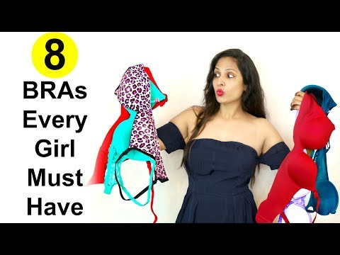 8 BRAs Every Girl Must Have !! Shruti Arjun Anand