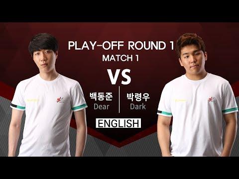 [SSL Premier S2]  170904 Playoff R1 Match 1 Dear vs Dark
