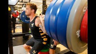 Preseason: Backs in the gym