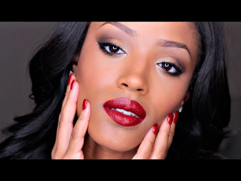 rebel reds beginner holiday makeup 2014  youtube