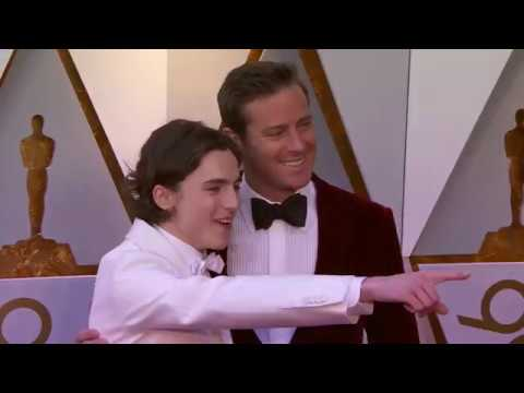 Oscars 2018 Arrivals: Timothée Chalamet and Armie Hammer
