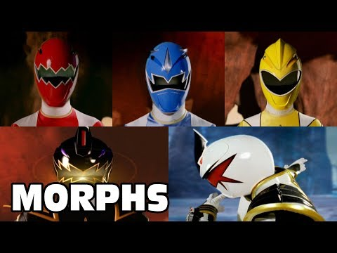 Power Rangers Official | Dino Thunder - All Ranger Morphs