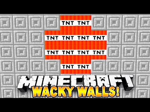 Minecraft - SUPER HOLE IN THE WALL! (Wacky Walls) - w/ THE PACK!