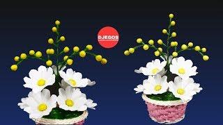 MEMBUAT BUNGA SIMPEL CANTIK DAN MENARIK DARI KANTONG KRESEK BEKAS | CARRYING PLASTIC BAGS FLOWER