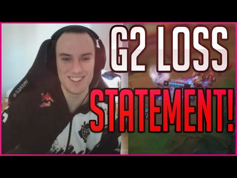 Statement on G2's Losses in LEC! | G2 Perkz English Twitch Stream Highlights