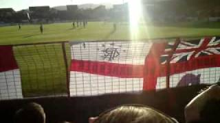 Rangers fans sing 10 German bombers at The Oval - Glentoran away 2010