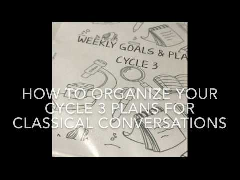 How to Organize & Plan for Classical Conversations Foundations