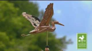Good Directions 9606p Blue Heron Weathervane - Polished Copper