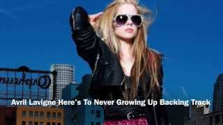 Avril lavigne here's to never growing up midi and mp3 backing track by hit trax