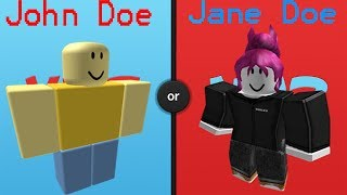 Roblox: Would you Rather - John Doe or Jane Doe