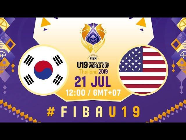LIVE - Korea v USA - FIBA U19 Women's Basketball World Cup 2019