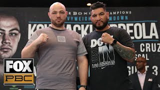 Hear from Adam Kownacki & Chris Arreola before their fight in Brooklyn, NY | WEIGH-INS | PBC ON FOX