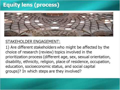 An Equity Lens for Priority-Setting Approaches in Systematic Reviews