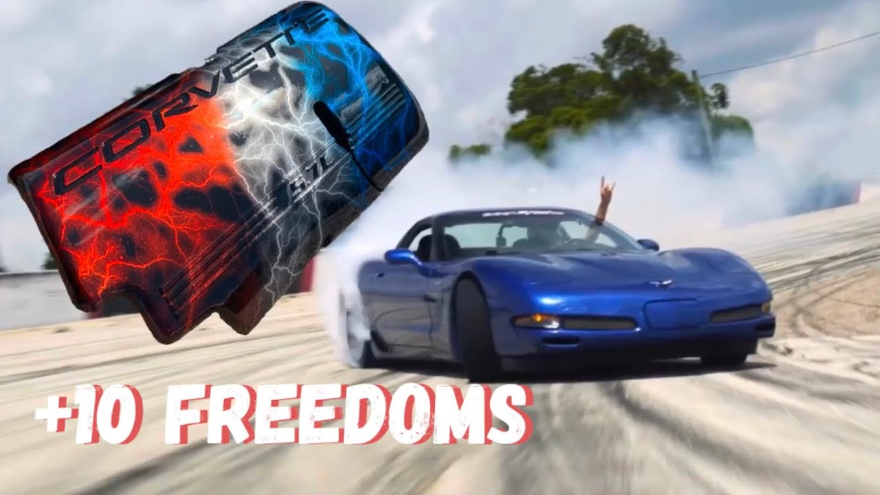 Freedom Corvette Covers for Cleetus and Donnie the C5 DRIFTMOBILE