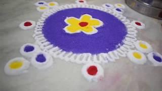 2 min में छलनी से बनाए  RANGOLI - Very Easy Rangoli for Diwali | Priya Malik