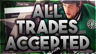 ACCEPTING ALL TRADES WITH THE DALLAS STARS (NHL 18 FRANCHISE MODE CHALLENGE)