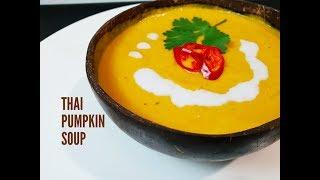 CREAMY THAI PUMPKIN SOUP - CookingwithKarma