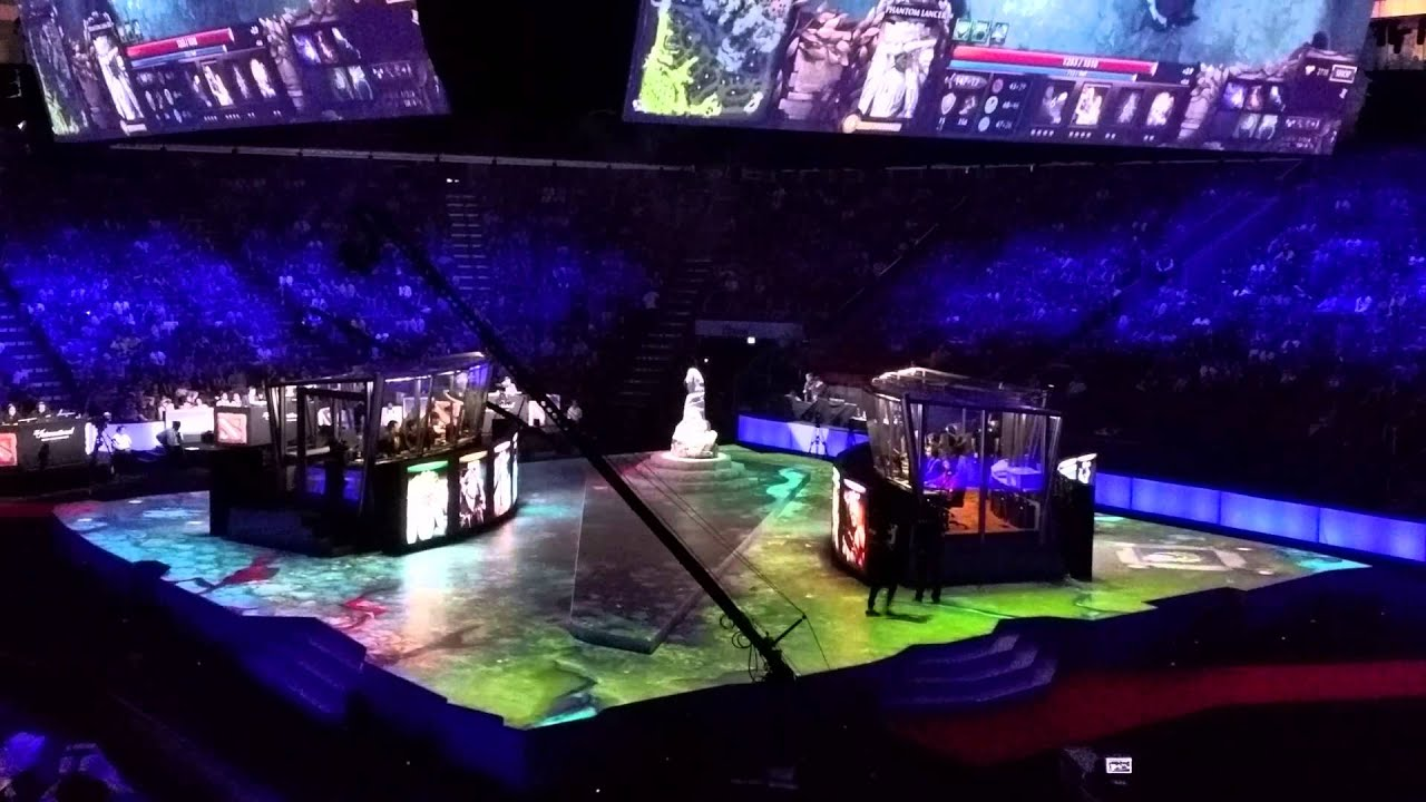Dota2 TI5 Stage Projection YouTube