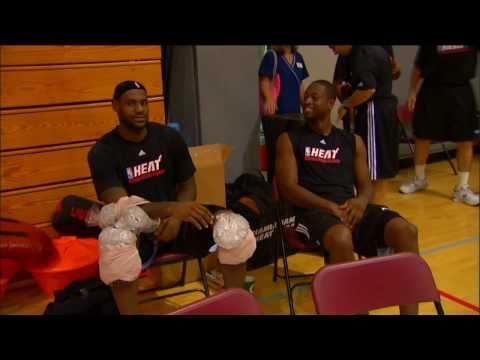 Dwyane Wade jokes around with LeBron