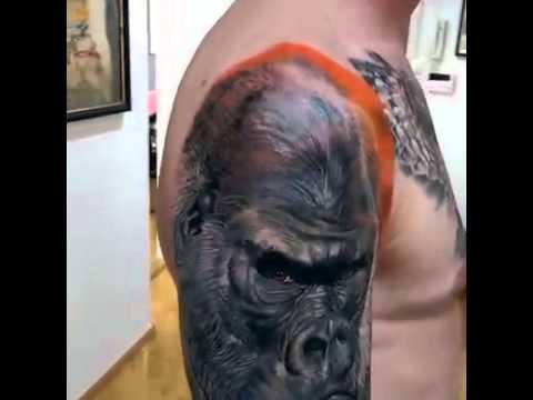 Gorilla Tattoo by Artist:Gunnar V - Icelandic tattoo artist