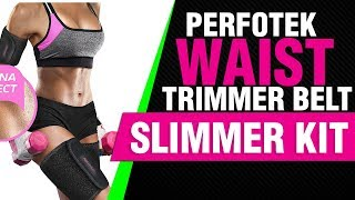 Perfotek Waist Trimmer Belt, Slimmer Kit, Weight Loss Wrap, Stomach Fat Burner,