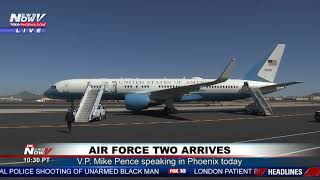 WATCH: Vice President Mike Pence Arrives in Phoenix