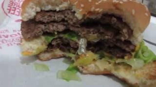 Eating A Mega Mac Big Mac From McDonalds In Korea
