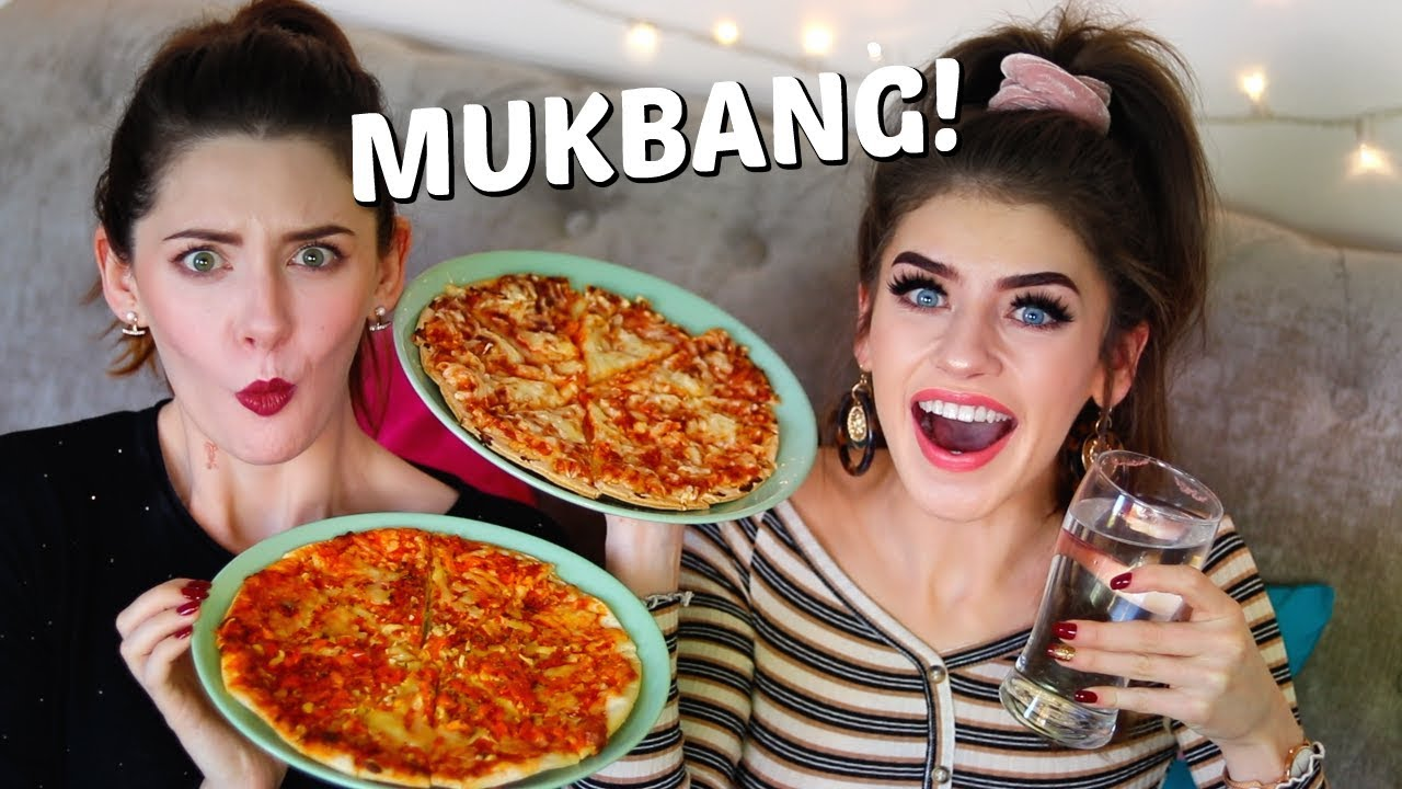 Download PIZZA MUKBANG (on a budget) WITH MY SISTER! | Eating Show | Jessie B & Melanie Murphy
