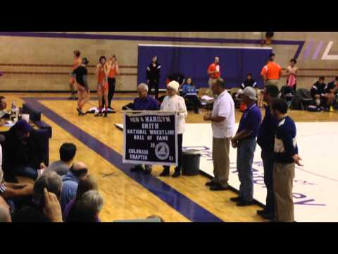 Marilyn Smith Wray High School National Wrestling Hall of Fame Banner Ceremony