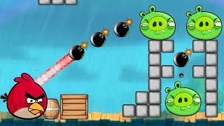 Boom Bad Piggies! - ANGRY BIRDS BLAST PIG BY THROWING BOMB!