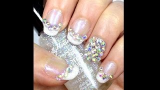 Fine French Crystal Nails ft Born Pretty, Nail Pattern Boldness & ScraPerfect Thumbnail