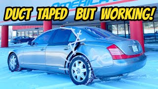 homepage tile video photo for Can My Wrecked Mercedes Maybach 57 be Saved??? With a Maaco Paint Job?
