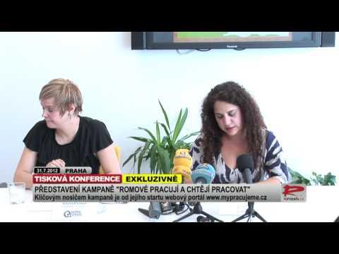 Záznam tiskové konference ke spuštění kampaně Romové pracují a chtějí pracovat