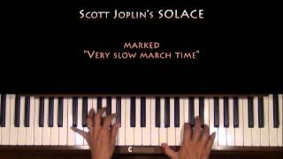 Scott Joplin Solace Piano Tutorial at Tempo